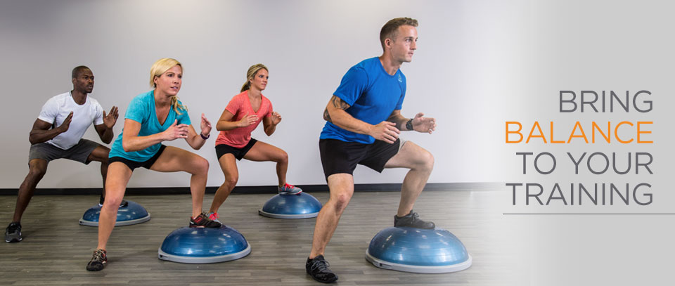 Bring versatility to your home workout with the bosu for Motor age training connect